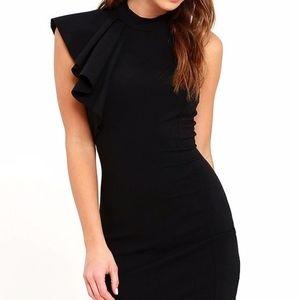 bb569de25a39 Lulu's Dresses | Lulus Au Revoir Black Bodycon Dress Xs Nwot | Poshmark